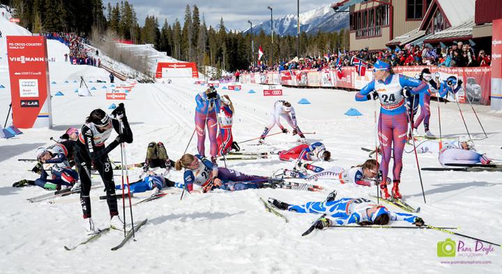 stremate al termine del Ski Tour Canada